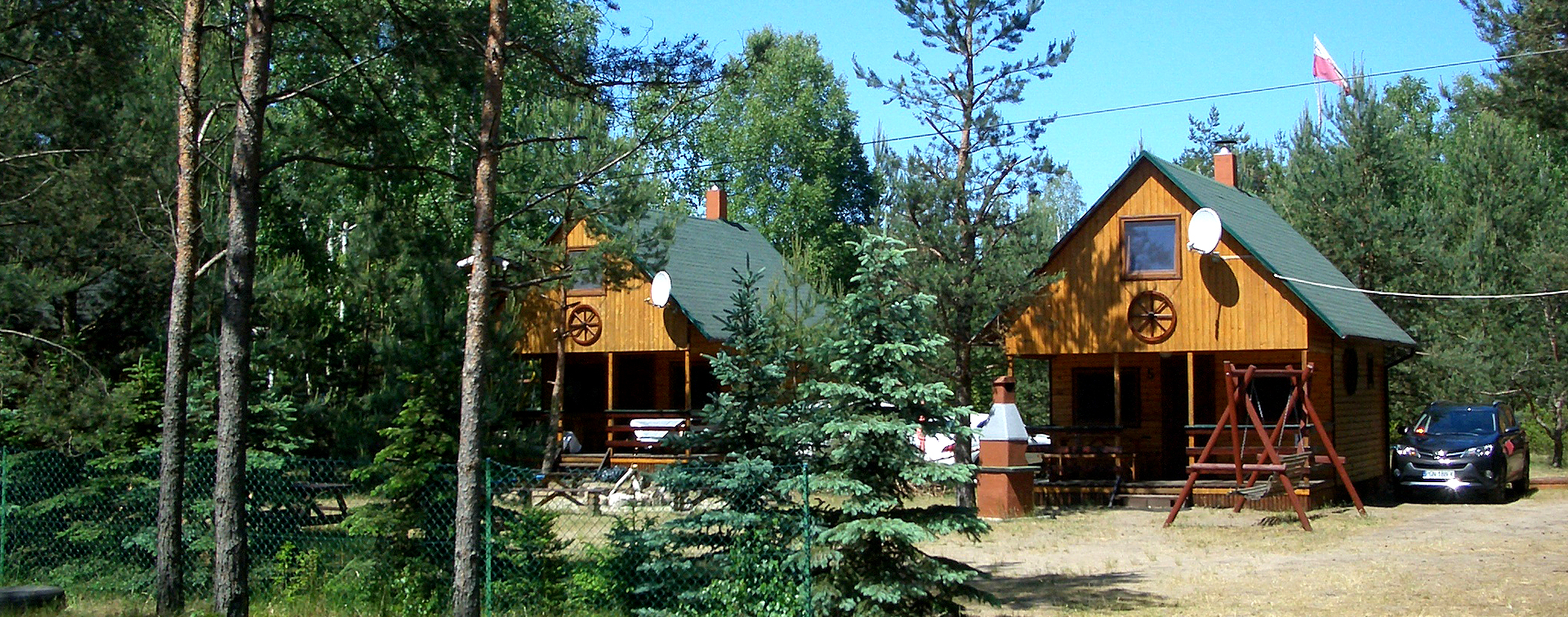 resort of wooden cottages